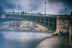 Ponte sopra la Senna, Parigi Fotografia Stock