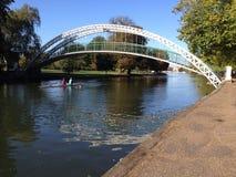 Ponte sospeso, Bedford, Regno Unito Fotografia Stock Libera da Diritti