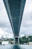Ponte sospeso, Costantinopoli Fotografie Stock Libere da Diritti