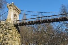 Ponte sospeso da Nicolae Romanescu Park Fotografia Stock