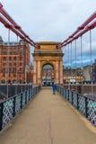 Ponte sospeso del sud della via di Portland a Glasgow, Scozia Immagine Stock