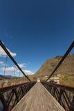 Ponte sospeso della gola di Kawarau fotografie stock libere da diritti