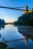 Ponte sospeso di Bristol ad alba Fotografia Stock Libera da Diritti