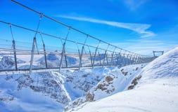 Ponte sospeso di Titlis Cliff Walk Fotografia Stock Libera da Diritti