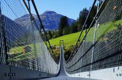 Ponte sospeso Holzgau Immagine Stock