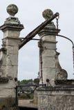 Ponte sospeso per il castello Fotografia Stock
