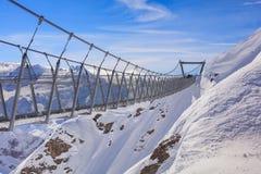 Ponte sospeso sul Mt Titlis in Svizzera Fotografie Stock