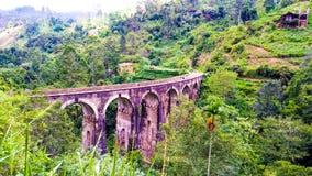 Ponte Sri Lanka dell'arco di Ella Nine fotografia stock
