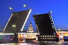 Ponte St Petersburg do palácio Imagens de Stock Royalty Free
