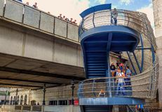 Ponte Staircase-3 de Londres imagens de stock