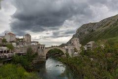 Ponte Stari mais em Mostar Fotografia de Stock Royalty Free