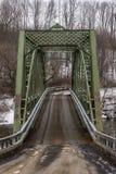 Ponte storico dell'arco e della capriata - New York Fotografia Stock Libera da Diritti