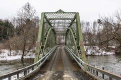 Ponte storico dell'arco e della capriata - New York Fotografia Stock