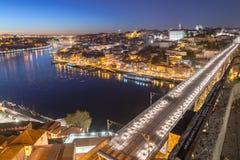 Ponte storico di Dom Luiz a Oporto fotografia stock