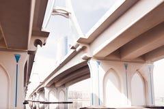 Ponte stradale del Dubai Fotografia Stock Libera da Diritti