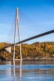 Ponte strallato automobilistico in Norvegia fotografia stock
