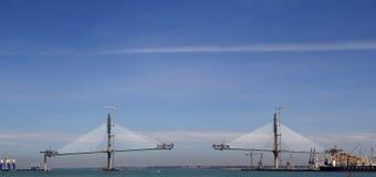Ponte su costruzione Immagine Stock