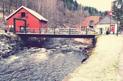 Ponte sul fiume Lomma Fotografia Stock