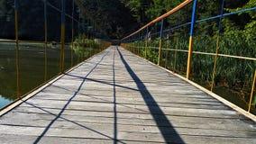Ponte sul lago Fotografie Stock
