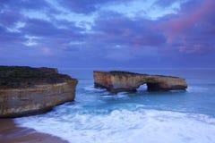 Ponte sulla grande strada dell'oceano, Australia di Londra Fotografia Stock