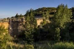 Ponte sulla montagna trasversale Fotografie Stock Libere da Diritti