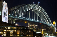 Ponte Sydney del porto alla notte Immagine Stock Libera da Diritti