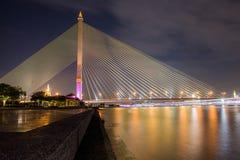 Ponte Tailândia de Rama 8 Fotos de Stock