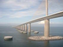 Ponte Tampa del porto Immagini Stock