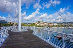 Ponte Thaon Di Revel brigde in La Spezia Ligurië Italië royalty-vrije stock foto's