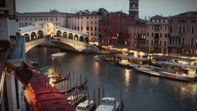 Ponte Timelapse de Rialto vídeos de arquivo