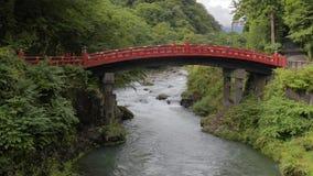 Ponte tradizionale giapponese Shinkyo video d archivio