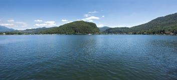 Ponte Tresa -卢加诺湖,提契诺州,瑞士,欧洲 免版税库存图片