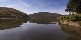 Ponte Tresa -卢加诺湖,提契诺州,瑞士,欧洲 免版税库存照片
