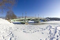 Ponte in Tsaritsyno Fotografie Stock Libere da Diritti