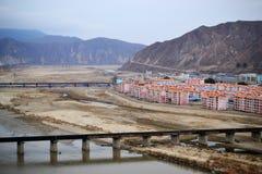 Ponte a Tumen, provincia del Jilin, frontiera della Cina, fiume fra la Corea del Nord e la Cina immagine stock