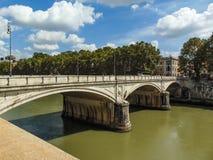 Ponte Umberto I, Roma - Itália fotografia de stock