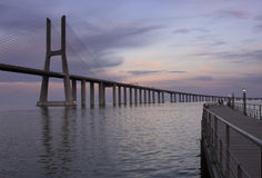 Ponte Vasco da Gama. The traditional bridge over the river Tejo (Ponte Vasco da Gama Royalty Free Stock Image