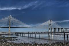 Ponte Vasco da Gama Bridge images libres de droits