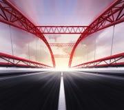 Ponte vazia da estrada no borrão de movimento Fotografia de Stock Royalty Free