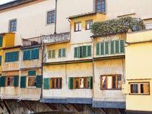 Ponte Vecchio商店,佛罗伦萨,意大利 库存照片