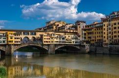 Ponte Vecchio在佛罗伦萨,托斯卡纳,意大利 免版税库存图片