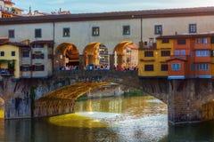 Ponte Vecchio在佛罗伦萨,托斯卡纳,意大利 库存照片