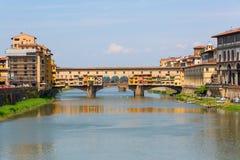 Ponte Vecchio在佛罗伦萨,托斯卡纳,意大利 库存图片