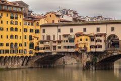 Ponte Vecchio在佛罗伦萨 免版税库存图片