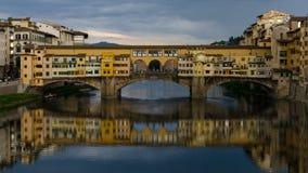 Ponte Vecchio桥梁-佛罗伦萨(意大利) 免版税库存照片