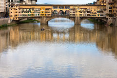 Ponte Vecchio桥梁 免版税库存照片
