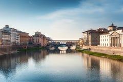 Ponte Vecchio看法  佛罗伦萨 免版税库存图片