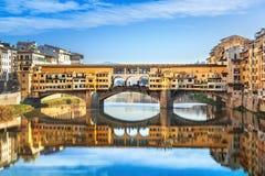 Ponte Vecchio看法  佛罗伦萨 免版税图库摄影