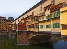 Ponte Vecchio överbryggar i Florence Royaltyfria Foton
