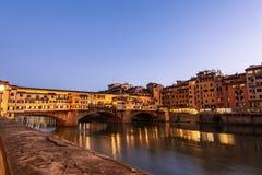 Ponte Vecchio και ποταμός Arno - Φλωρεντία Ιταλία στοκ φωτογραφία με δικαίωμα ελεύθερης χρήσης